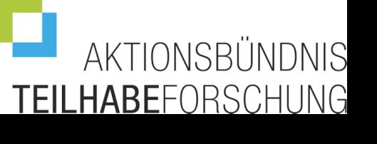 Logo: Aktionsbündnis Teilhabeforschung